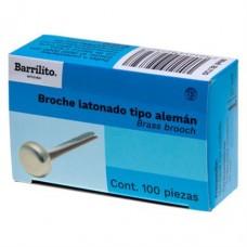 BROCHE LATONADO BARRILITO 20 MM. C/100