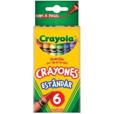 CRAYONES CRAYOLA CON 6 COLORES