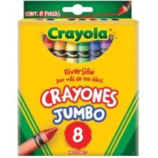 CRAYONES CRAYOLA JUMBO CON 8