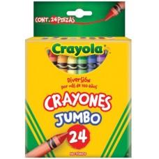 CRAYONES CRAYOLA JUMBO CON 24