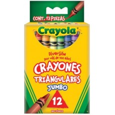 CRAYON CRAYOLA TRIANGULAR JUMBO C/12 PZAS.