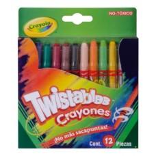 CRAYON CRAYOLA  MINI TWISTABLES C/12 PZAS.