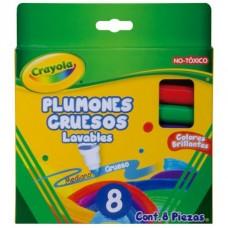 PLUMONES CRAYOLA LAVABLES C/8 GRUESO