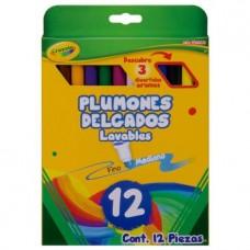 PLUMONES CRAYOLA LAVABLE C/12 DELGADO
