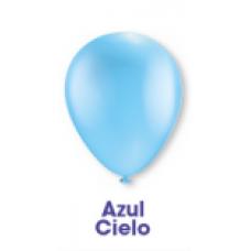 GLOBO DECORATOR # 9 C/50 PZAS.AZUL CIELO