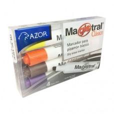 MARCADOR MAGISTRAL 83474 C/4 PLAST.