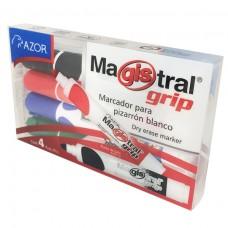 MARCADOR MAGISTRAL GRIP 8394 PTE. C/4 PZAS.
