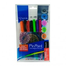 BOLIGRAFO AZOR PIN POINT COLORES PTE. C/8 PZAS.