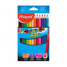 COLORES MAPED COLORPEPS MAXI C/12 PZAS.