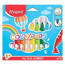 CRAYON MAPED COLORPEPS JUMBO C/12 PZAS.