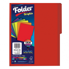 FOLDER BRIGHTS DIEM CARTA PTE. C/25 PZAS. ROJO 05