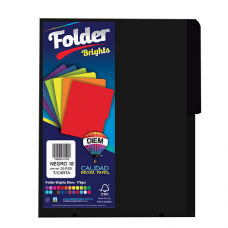 FOLDER BRIGHTS DIEM CARTA PTE. C/25 PZAS. NEGRO 18