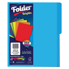 FOLDER BRIGHTS DIEM CARTA PTE. C/25 PZAS. AZUL INTENSO 30