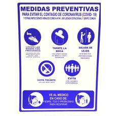 SEÑALAMIENTO MEDIDAS PREVENTIVAS COVID 30X40