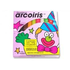 PLASTILINA C/10 BARRAS ARCOIRIS