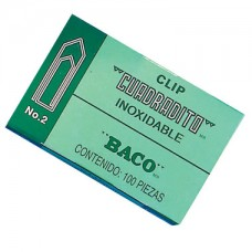 CLIP BACO CUADRADITO NO.2 C/100