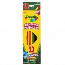 COLORES CRAYOLA TRIANGULAR C/12 LARGOS