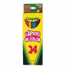 COLORES CRAYOLA C/24 COLORES LARGOS