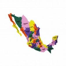 MAPA REPUBLICA MEXICANA 31 EDO.GDE.
