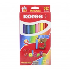 COLORES KORES JUMBO TRIANGULAR C/12 PZAS.