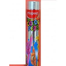 COLORES MAPED COLOR PEPS TUBO METAL C/12 PZAS.