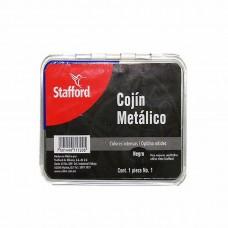 COJIN P/SELLOS METALICO STAFFORD NO.1 NEGRO