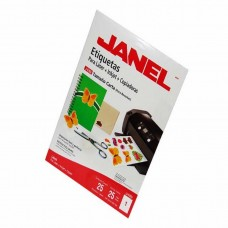 ETIQUETA JANEL P/LASER 5165 216X279 MM C/25 H