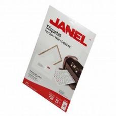 ETIQUETA JANEL P/LASER 5260 25X67 MM C/25 H.