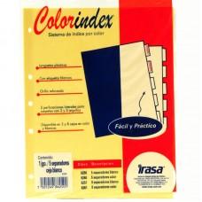 SEPARADOR IRASA COLORINDEX CARTA IN6250 C/5